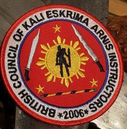 Eskrima badge